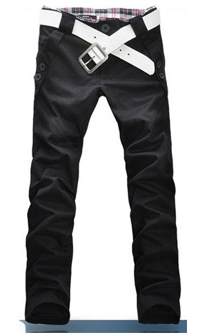 Man Slim Fit Black Pants