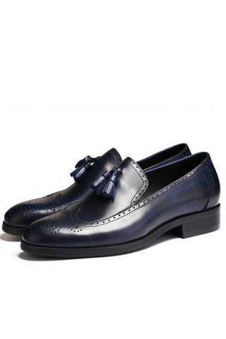 Classic Tassel Business Loafer In Navy