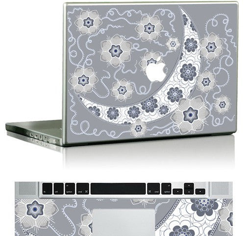 Macbook Cielo Fiorato Decal Skin Sticker. Art Decals By Moooh!!