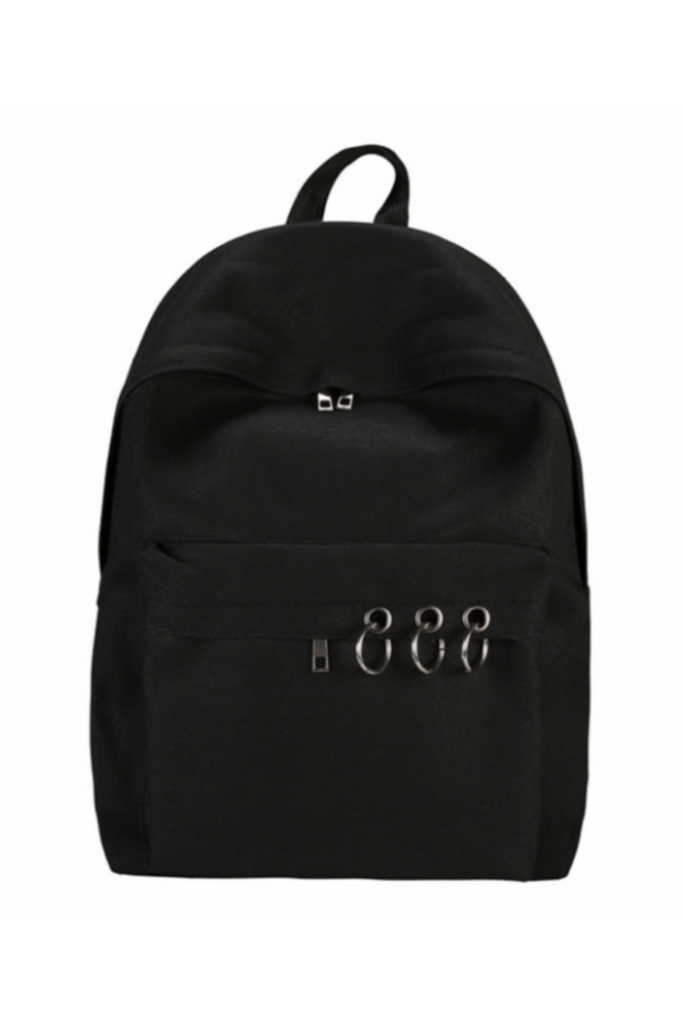O-ring Decor Canvas Backpack