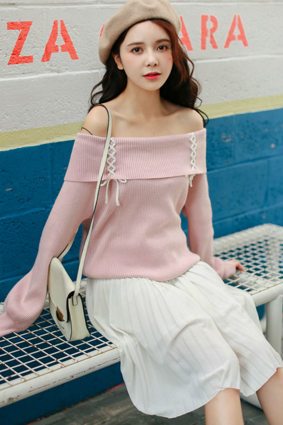 Off The Shoulder Bandage Sweater