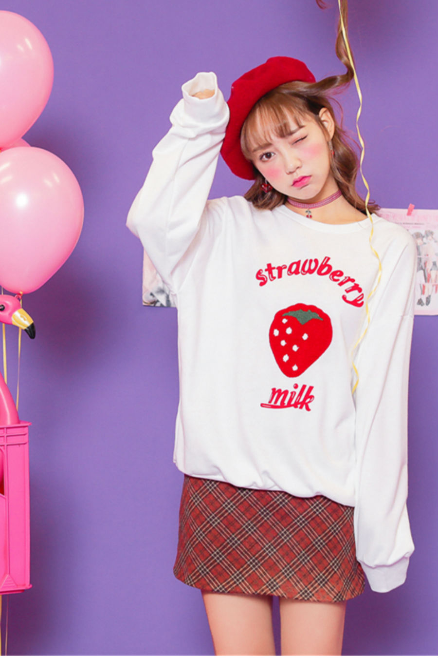 Strawberry Milk White Sweater