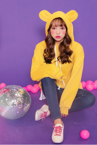 Cute Yellow Cat Ears Hoodie