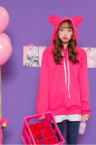 Cute Red Cat Ears Hoodie