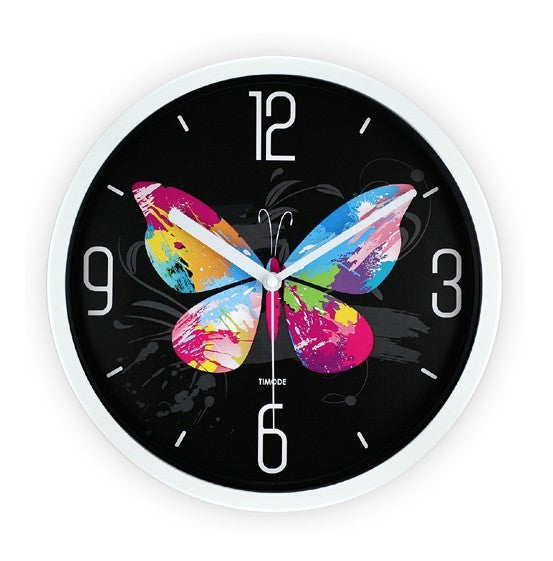Butterfly Prints Clock White
