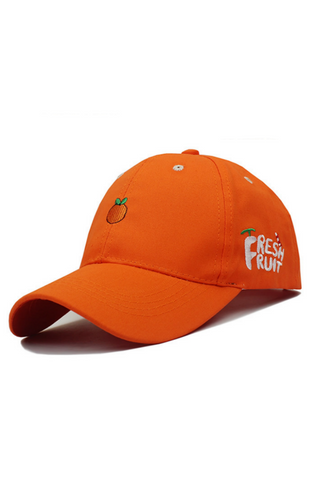 Orange Embroidered Baseball Hat