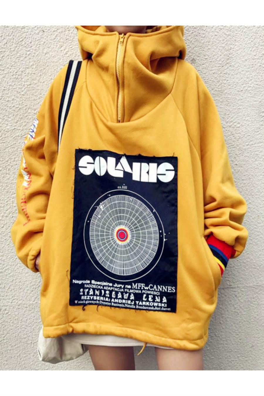 Vintage Patch Yellow Hoodie