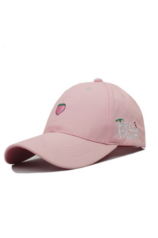Pink Peach Embroidered Baseball Hat