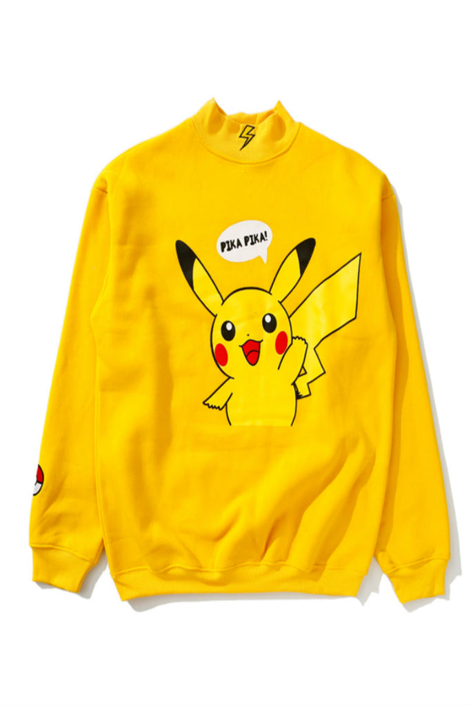 Kawaii Pikachu Print Sweater