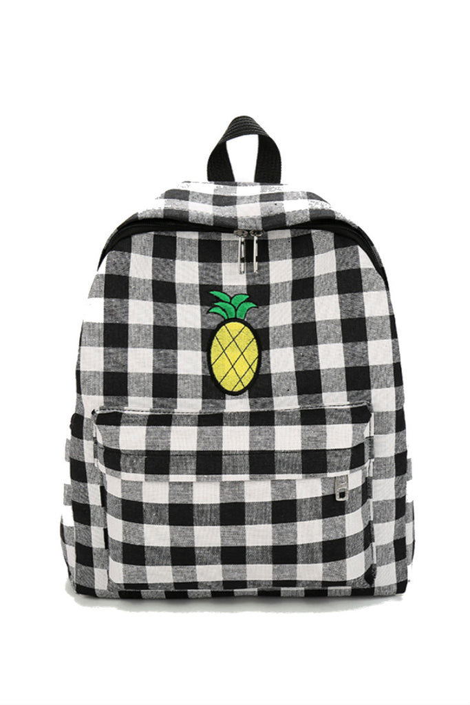 Pineapple Patch Plaid Backpack