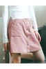 Pink Button Up Skirt
