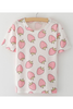 Pink Strawberry Printed T-shirt