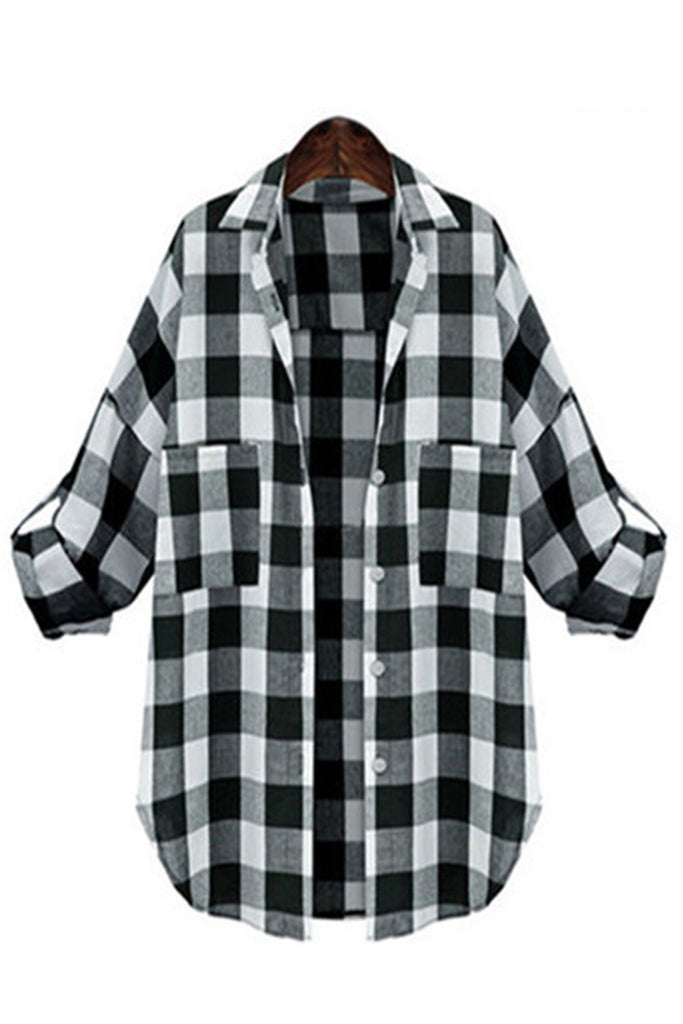 Loose Fit Plaid Shirt