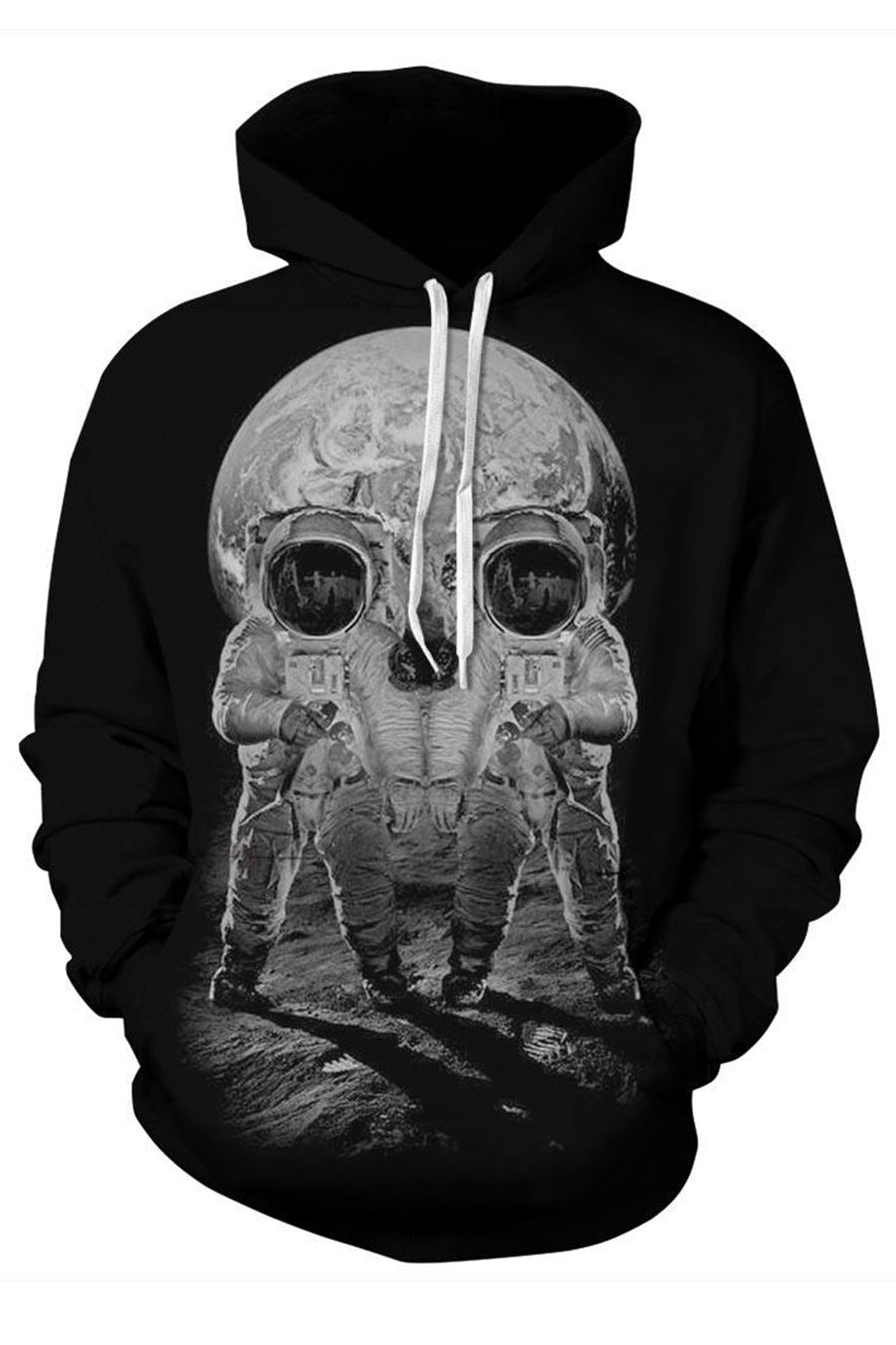 Skulled Moon 3D Hooded Sweater