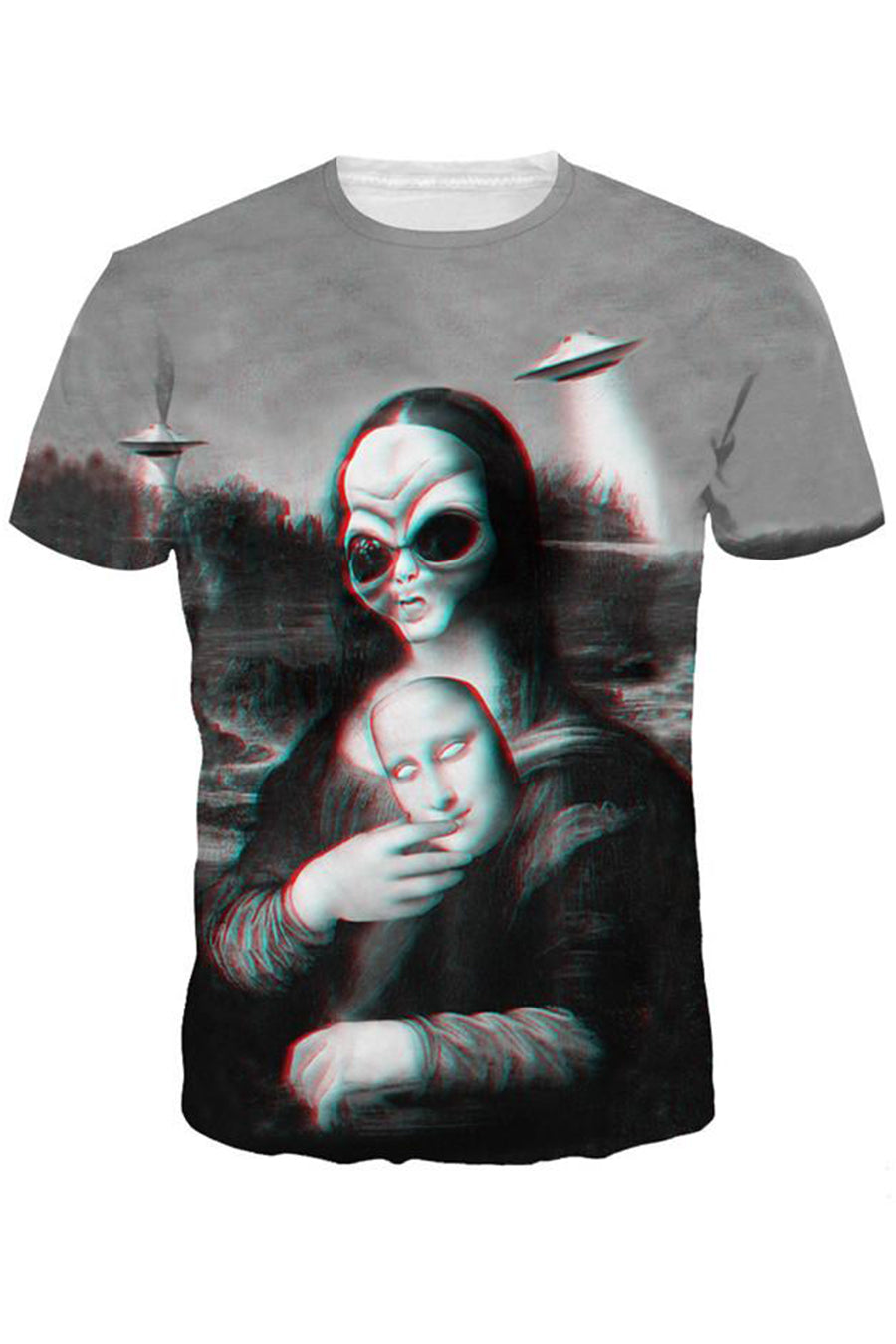 Monna Lisa 3D Printed T-shirt