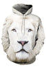 White Lion 3D Hooded Sweater