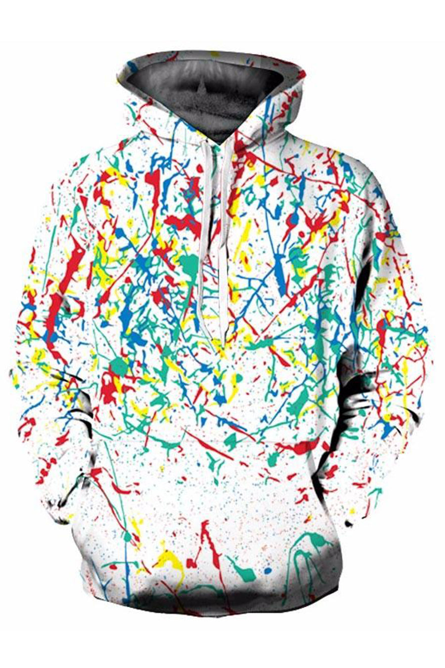 Colourful Happy Inks 3D Hoodie