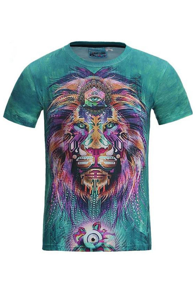 Rasta Lion 3D Printed T-shirt