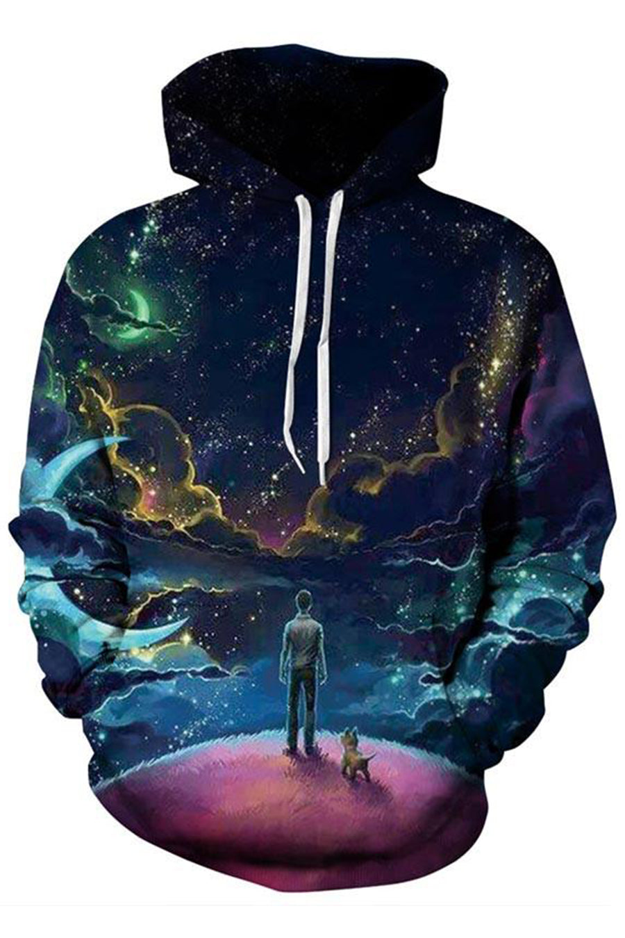 Colourful Universe 3D Hoodie