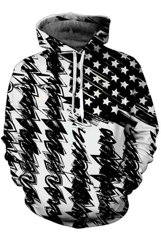 Vintage Flag 3D Hooded Sweater