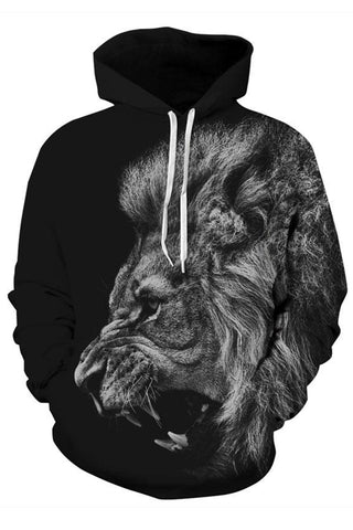 Angry Lion 3D Hooded Sweater