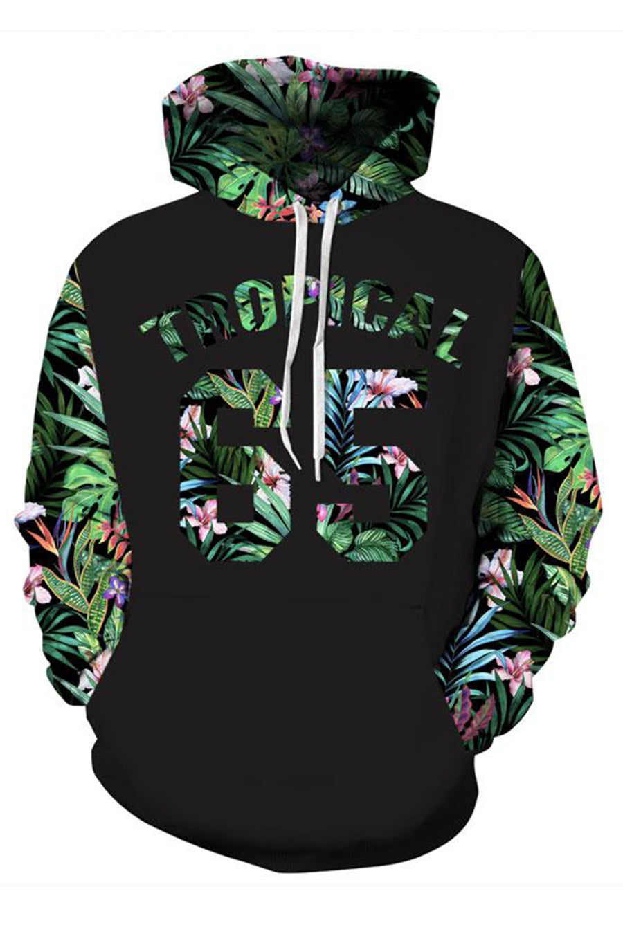 Grunge Floral 3D Hooded Sweater