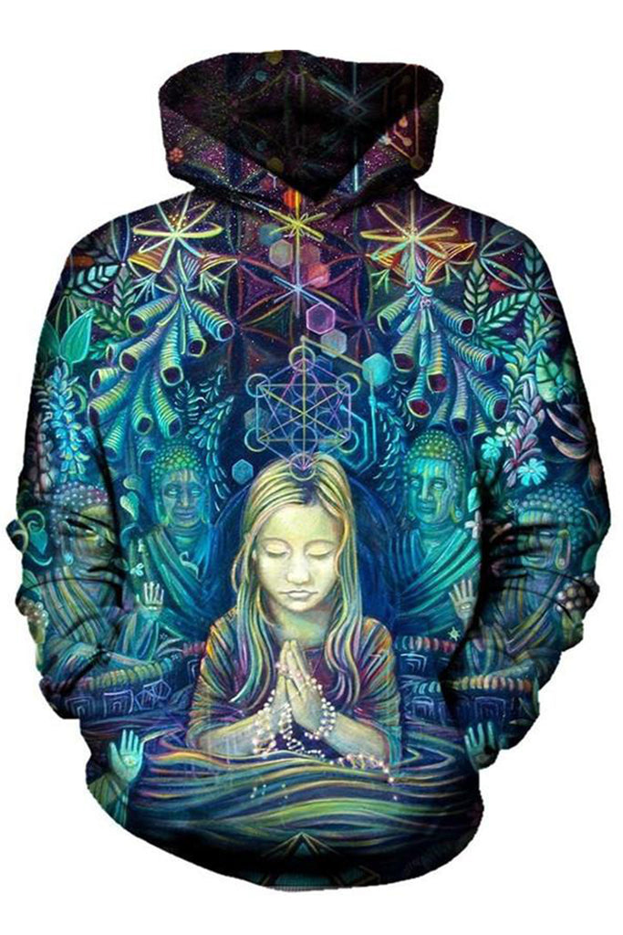 Pray for Flowers 3D Hoodie