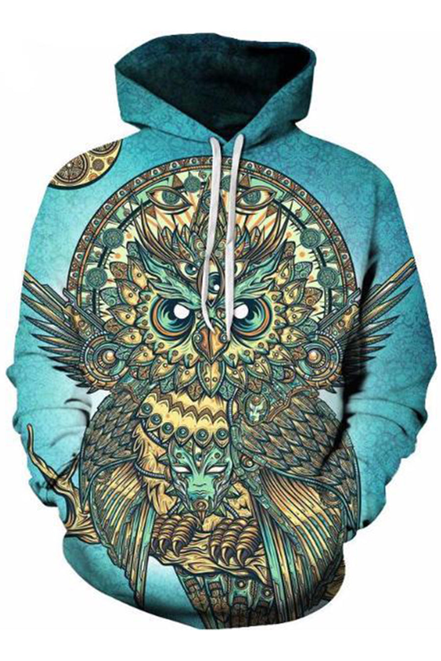 Ethnic Owl 3D Hooded Sweater