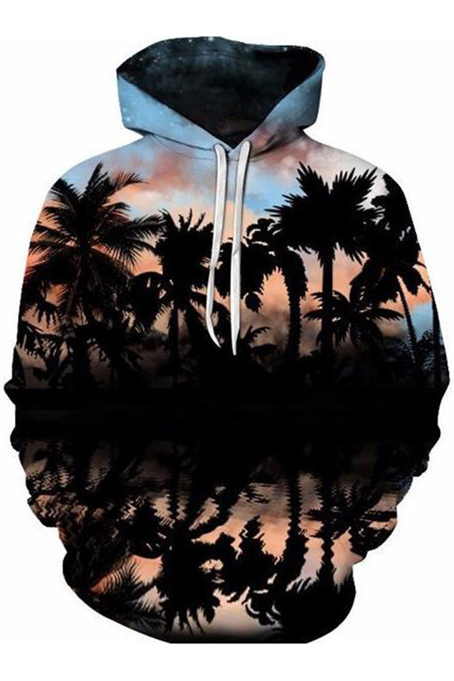 Palms In Sunset 3D Hoodie