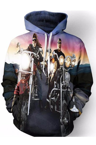 Bikers 3D Hooded Sweater