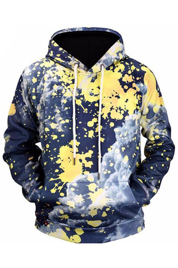 Painted 3D Hooded Sweater