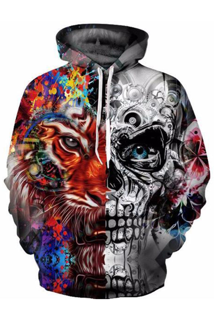 Skulled Lion 3D Hooded Sweater