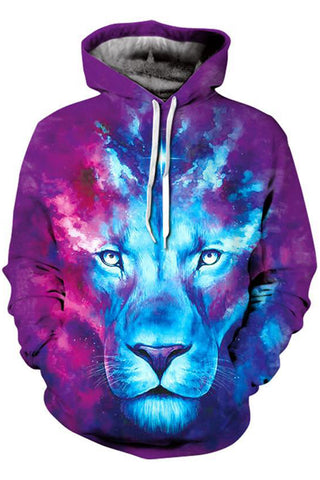 Neon Lion 3D Hooded Sweater