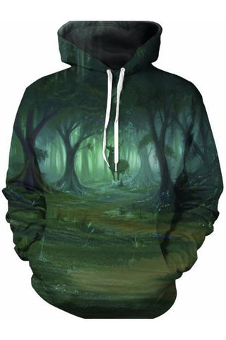Green Caves 3D Hooded Sweater