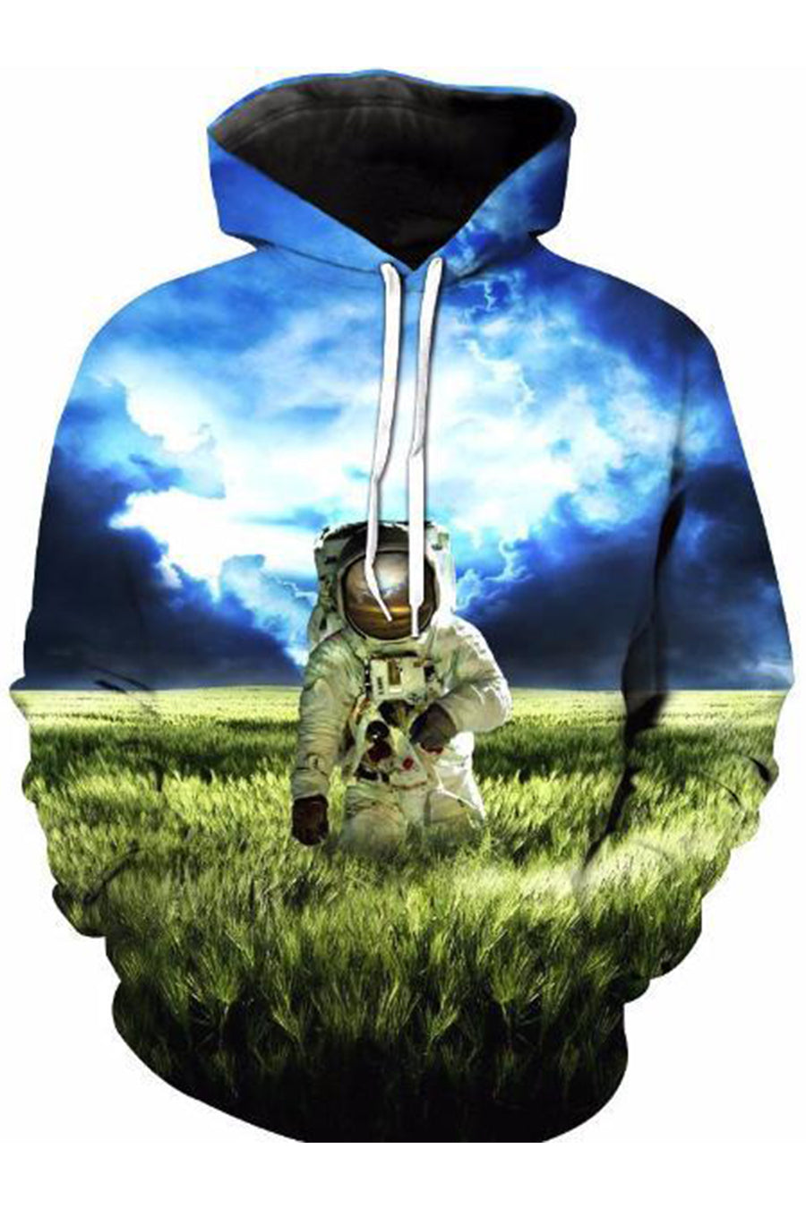 Astronaut on Earth 3D Hoodie