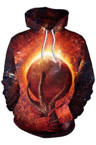 Satan Planet 3D Hooded Sweater