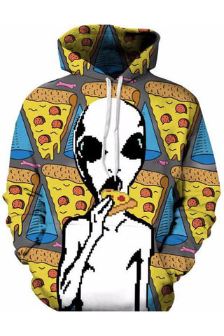 Pizza Aliena 3D Hooded Sweater