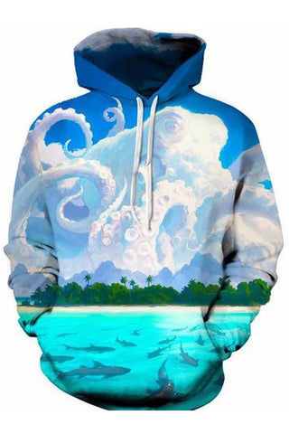 Nuvole A Polipo 3D Hoodie