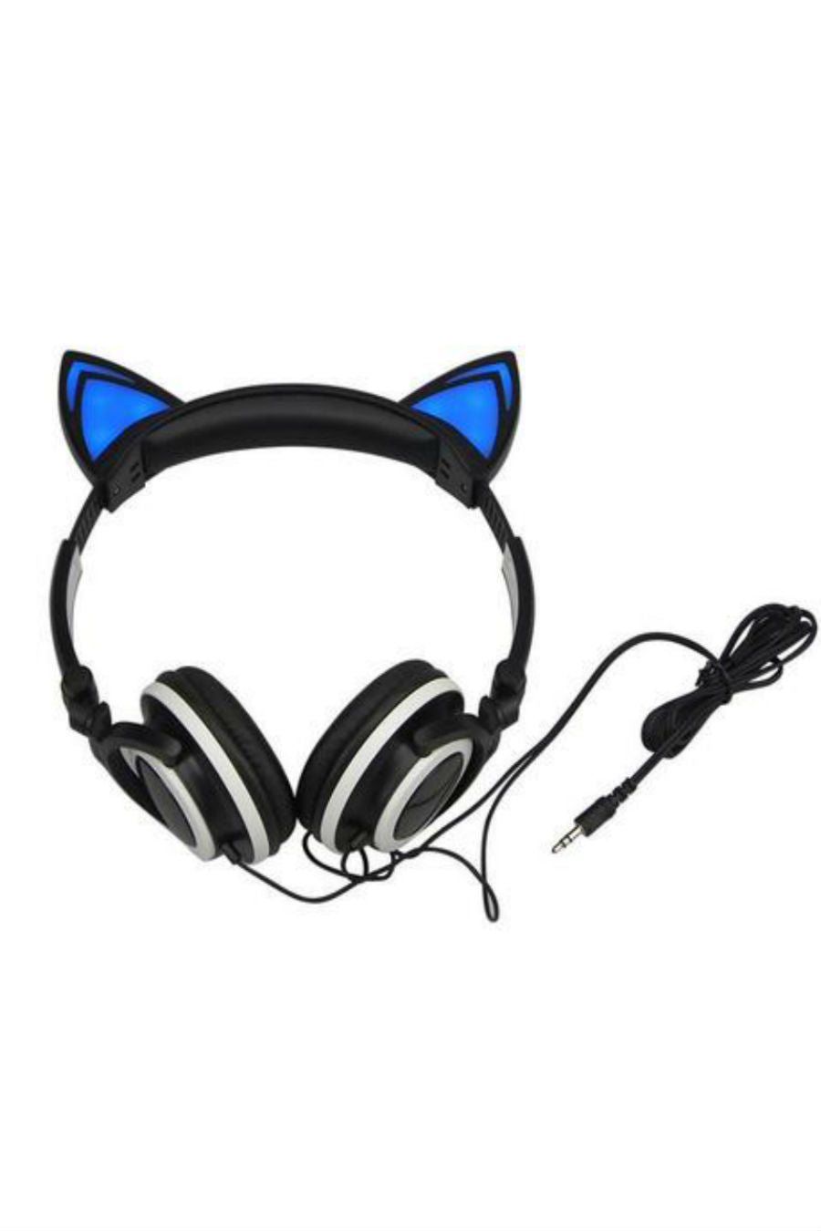 Cat Ear Headphones In Black