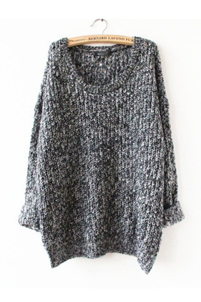 Vintage Gray Cosy Knit Long Sweater