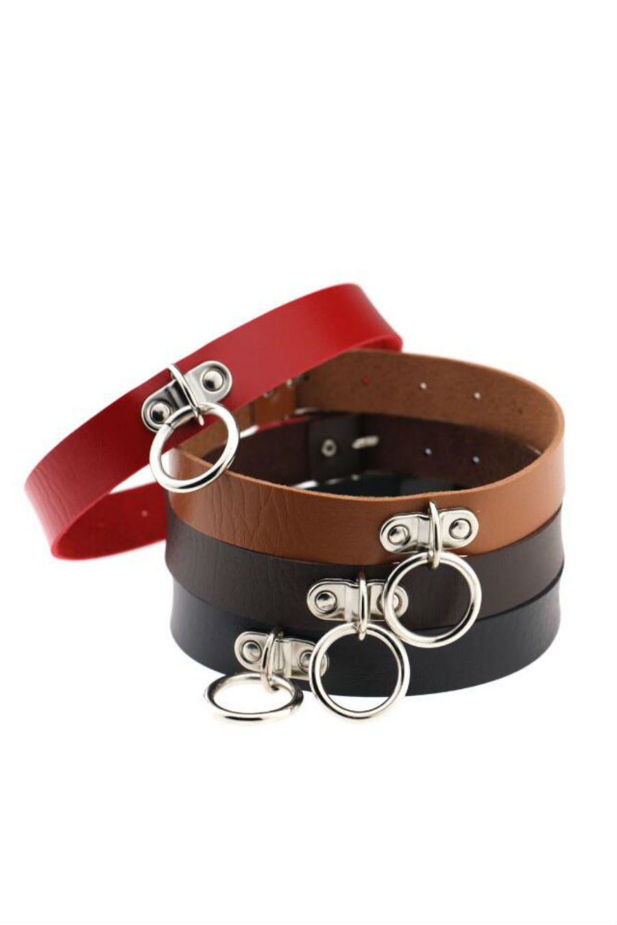 4pcs O-ring Punk Choker