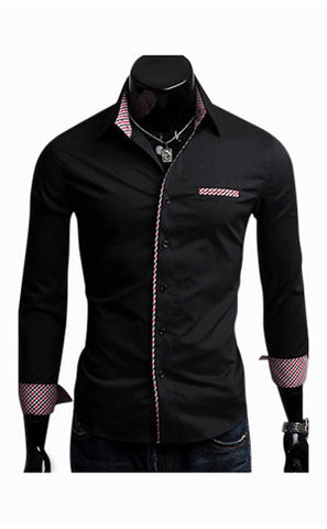 Elegant Long Sleeve Shirt In Black