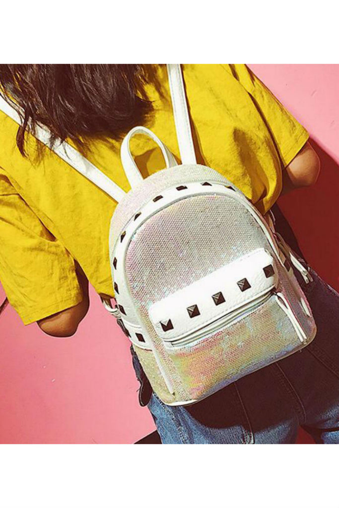 Sequin Studded Mini Backpack