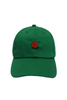 Rose Embroidered Hat In Green
