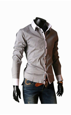 Slim Fit Shirt In Gray