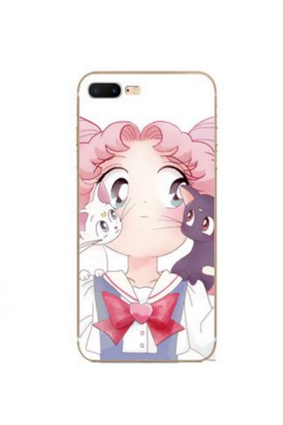 Pink Sailor Moon Iphone Case