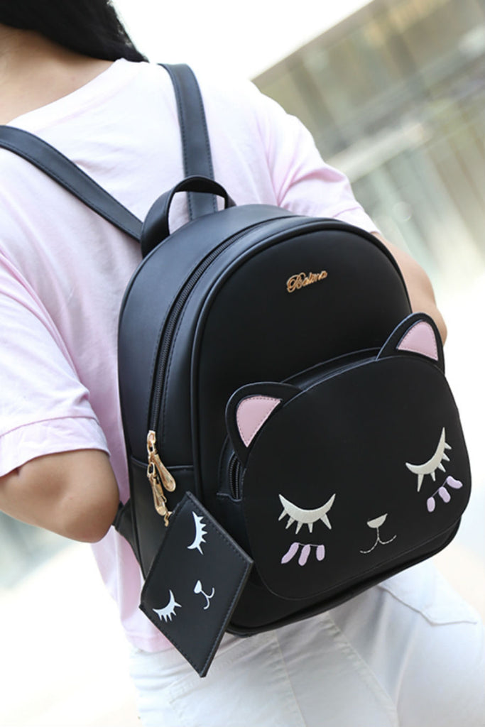 Kitten Cat Backpack With Purse