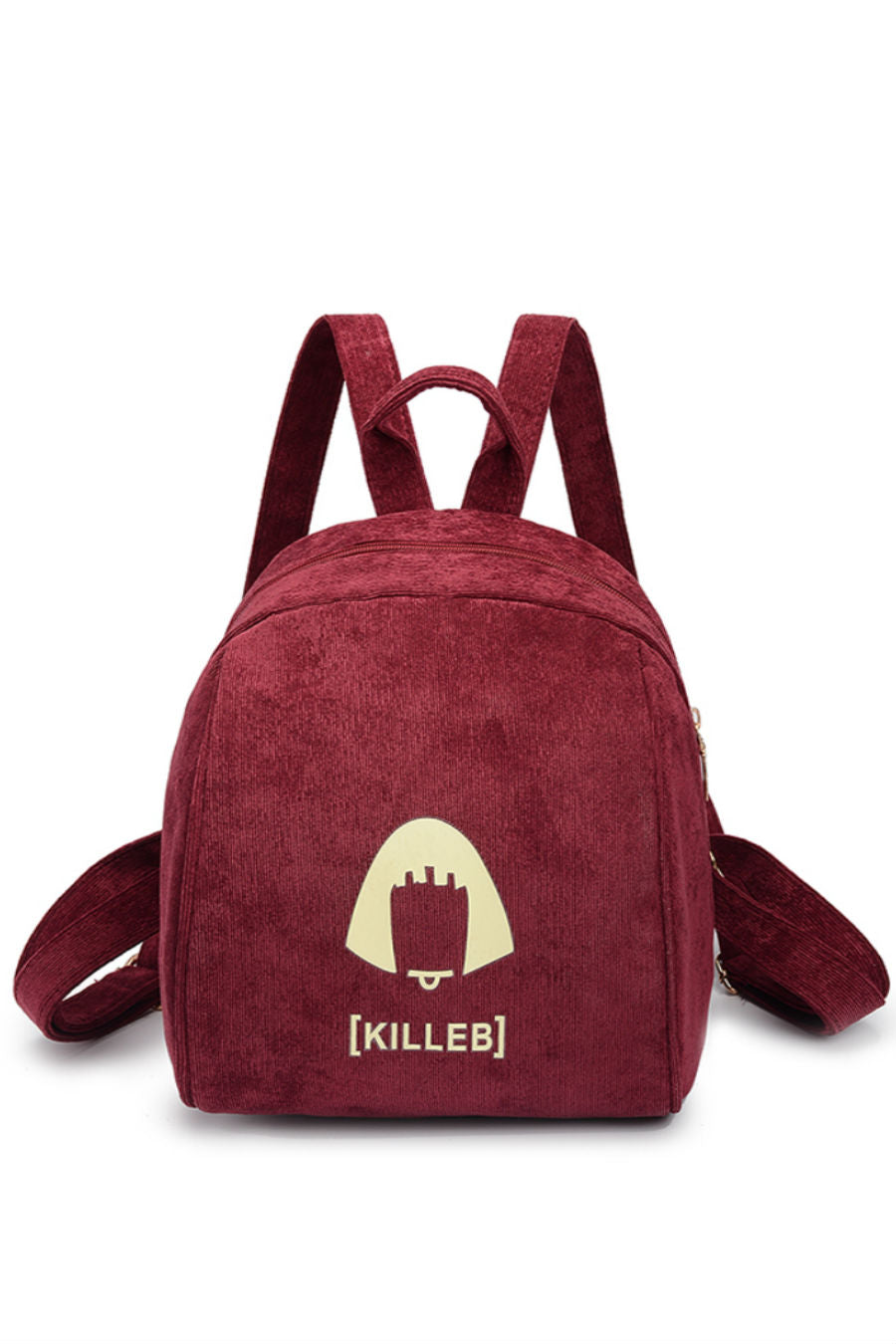 Burgundy Corduroy Mini Backpack