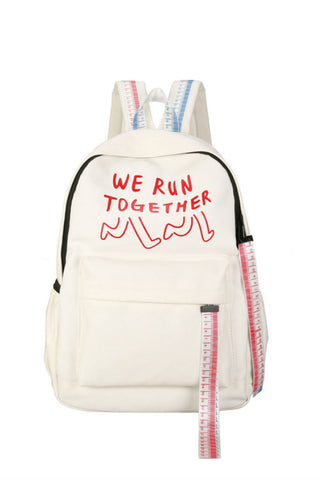 Harajuku Run Together Canvas Backpack
