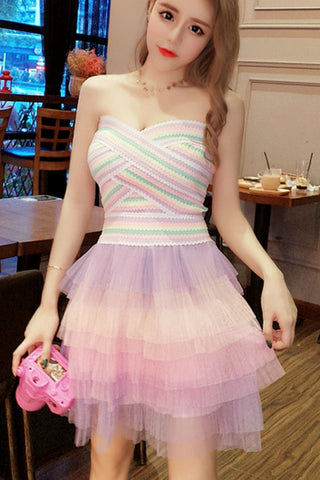 Pastel Color Tulle Dress